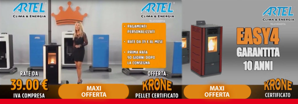 Offerta stufa a pellet Artel Easy 4 a rate da 39 euro al ...